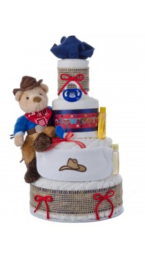 Lil Western Cowboy Diaper Cake