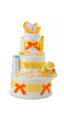 Lil' Yellow Duck Diaper Cake