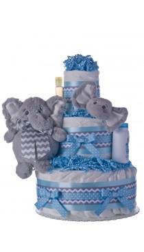 My Elephant Friend Lil Baby Diaper Cake