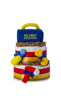 First Tool Box 2 Tier Diaper Cake