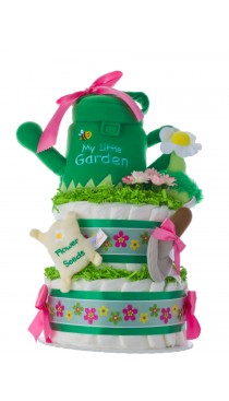 My Little Garden Diaper Cake by Lil' Baby Cakes