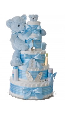 Silver Spoon 5 Tier Diaper Cake for Boys