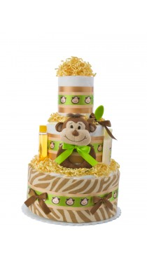 Smiling Monkey Baby Diaper Cake