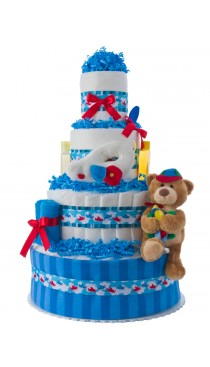 Up Up & Away Airplane Diaper Cake
