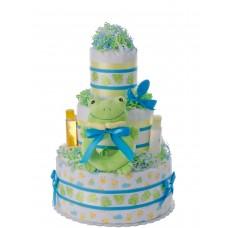 Lil Ribbit Green Frog Baby Diaper Cake