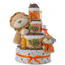 Wild Things 4 Tier Baby Diaper Cake