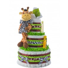 Safari Giraffe 3 Tier Diaper Cake