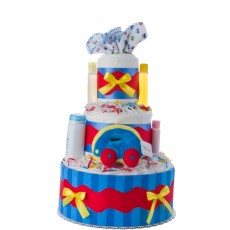 Away We Go Diaper Cake for Boys by Lil' Baby Cakes