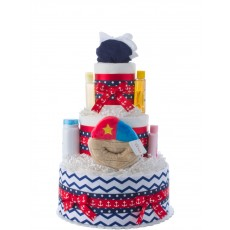 Away We Sail Neutral Diaper Cake