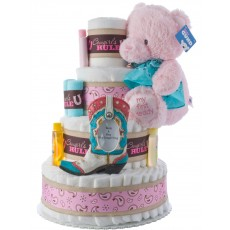 Cowgirls Rule Girls Diaper Cake