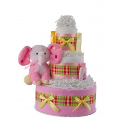 Ellie the Elephant Diaper Cake for Girls