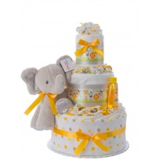 Lil' Elephant and Friends Newborn Diaper Cake