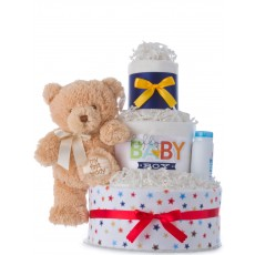 Hello Baby Boy 3 Tier Diaper Cake