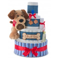 I Ruff You Baby Shower Diaper Cake by Lil Baby Cakes