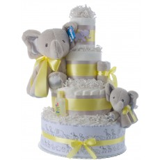Lil' Elephant Baby Shower Diaper Cake