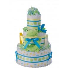 Lil' Ribbit Frog Newborn Diaper Cake