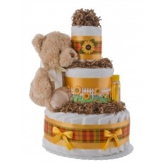 Lil' Sunflower Diaper Cake for Girls