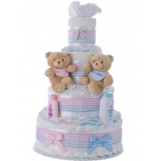 Baby Bear Twins Diaper Cake