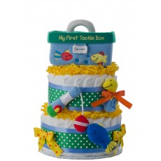 My First Tackle Box Diaper Cake