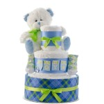 Baby Boy 3 Tier Diaper Cake