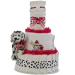 Lil Firefighter 3 Tier Diaper Cake