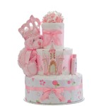 Our Lil' Princess Castle 3 Tier Diaper Cake
