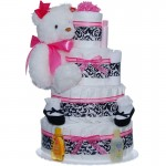 Uptown Girl 4 Tier Diaper Cake