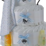 Holiday Snow Boy Diaper Cake Bottom