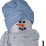 Holiday Snow Boy Diaper Cake Top