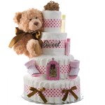 So Sweet Girl 4 Tier Diaper Cake