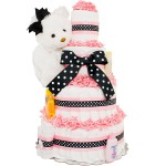 Sweet and Classy 4 Tier Diaper Cake
