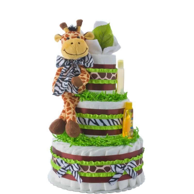 Safari Giraffe 3 Tier Diaper Cake