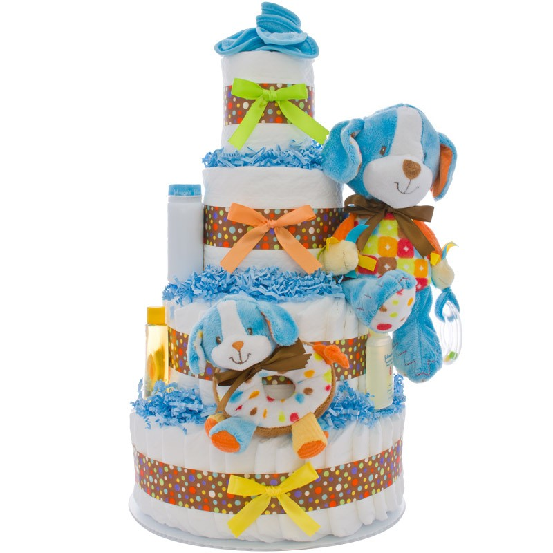 Activity Puppy 4 Tier Diaper Cake