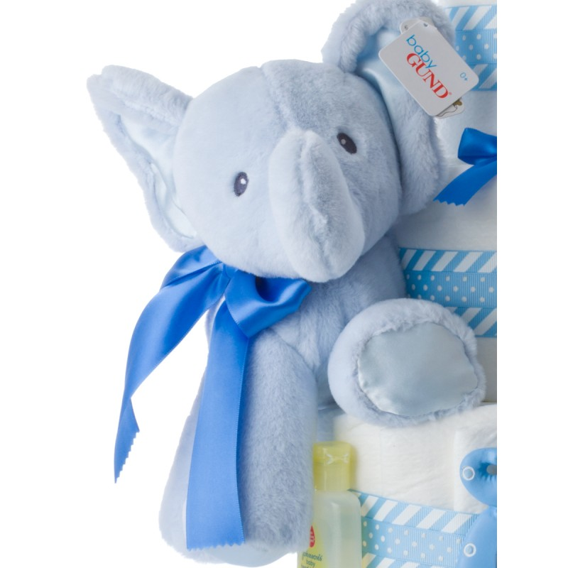 Baby Gund Plush Blue Elephant Toy