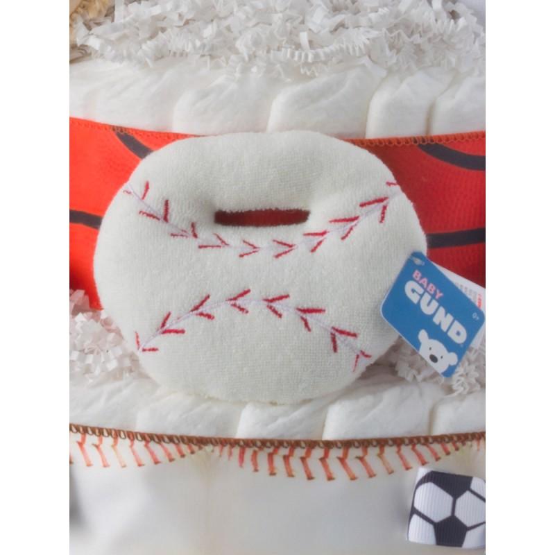 Baby Gund White Baseball