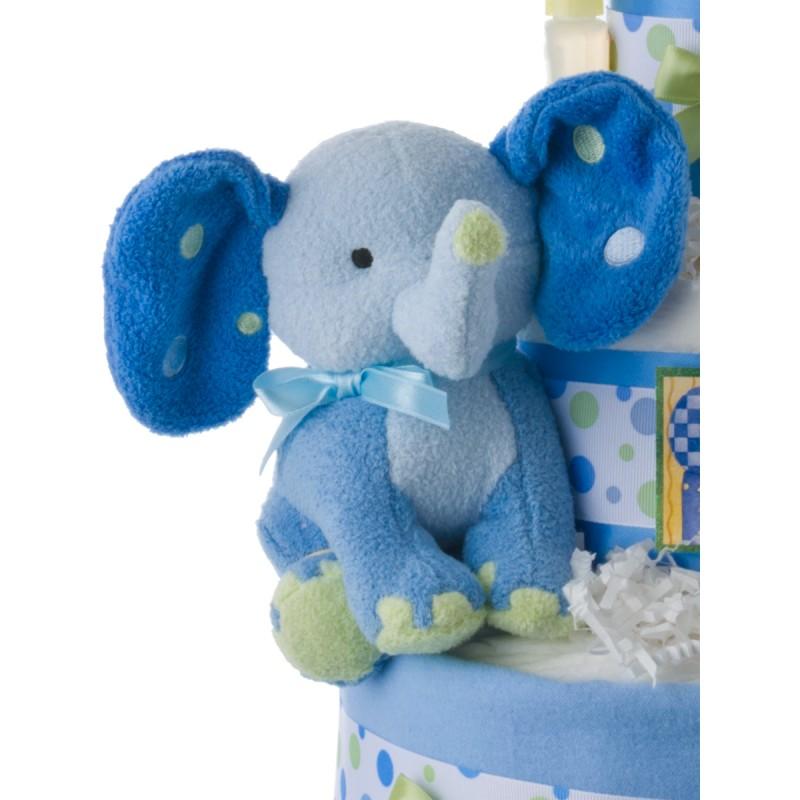 Lil' Blue Elephant Diaper Cake for Boys