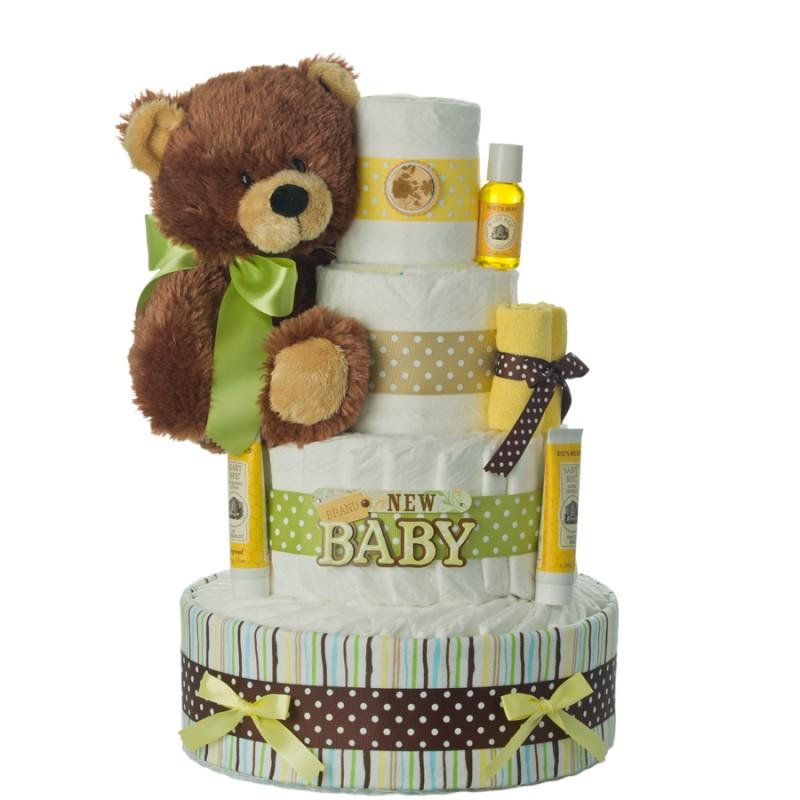 Brand New Baby Bear Diaper Cake
