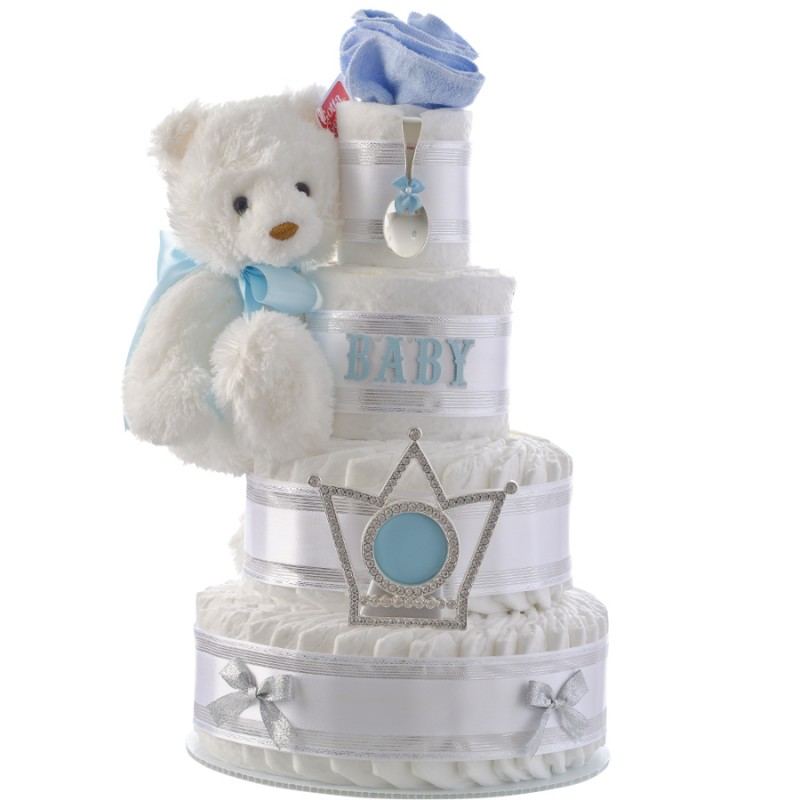 Elegant Boy 4 Tier Diaper Cake