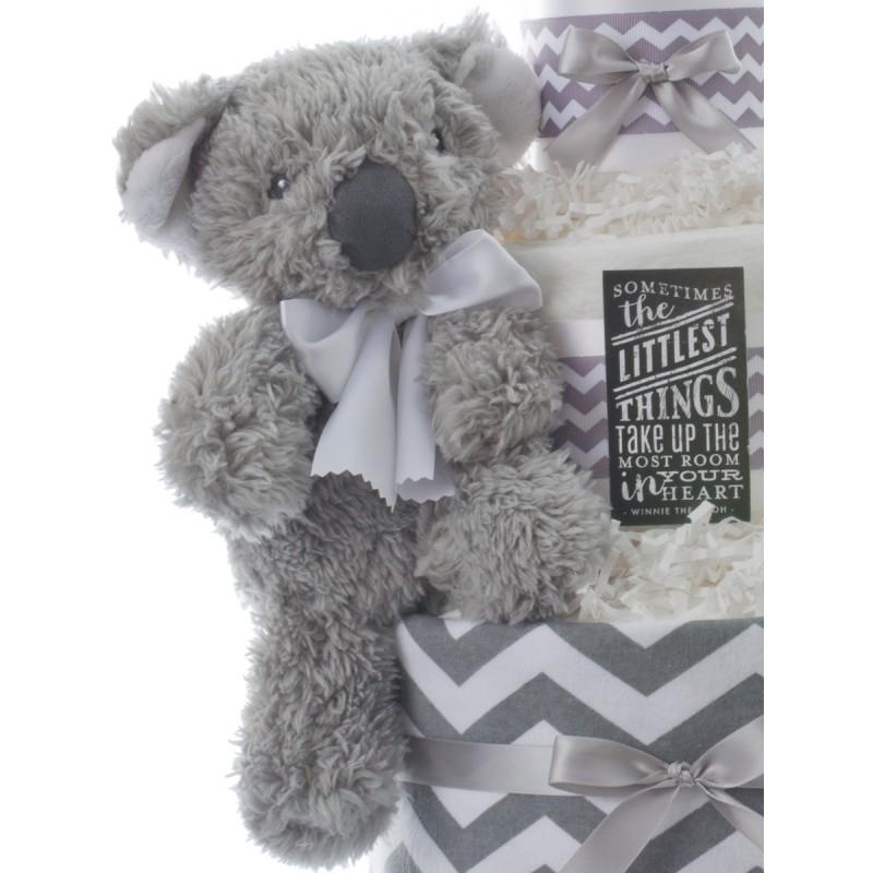 Gray Plush Bear Baby Toy