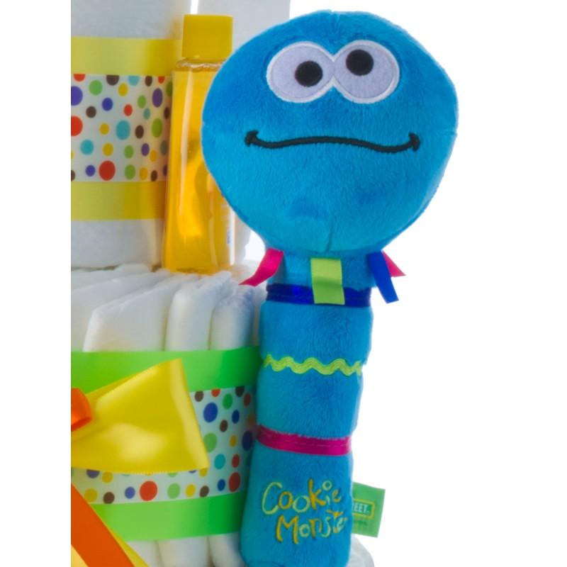 Gund Cookie Monster Plush Rattle