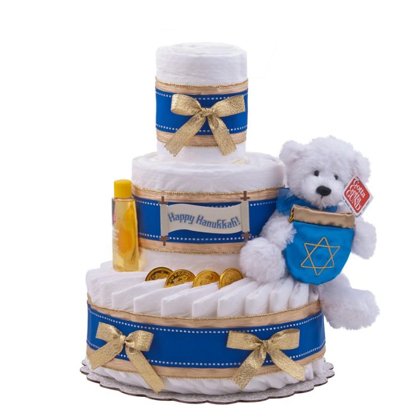 Happy Hanukkah Diaper Cake