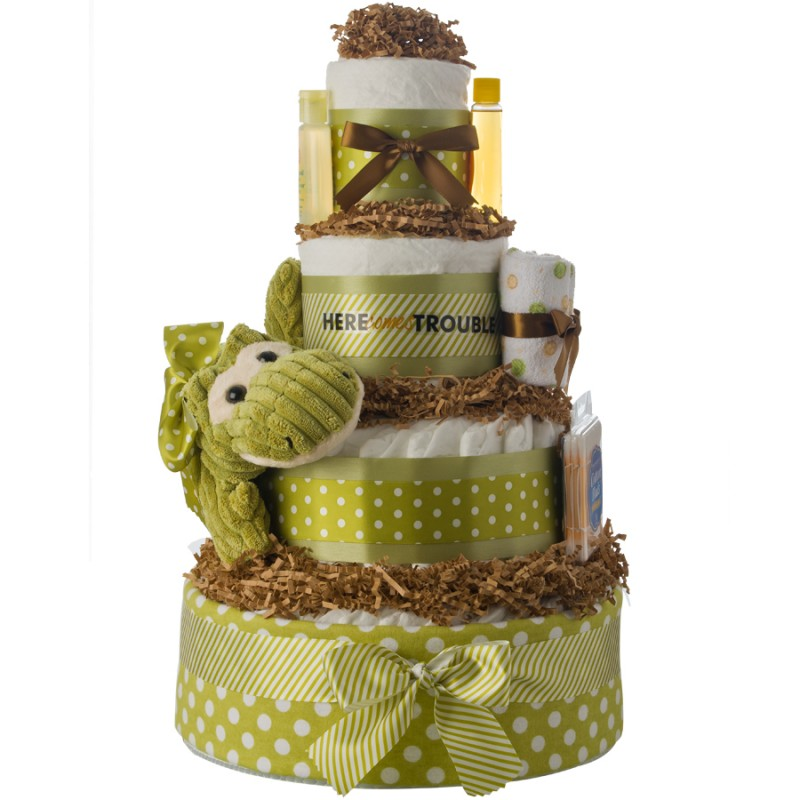 Here Comes Trouble 4 Tier Diaper Cake