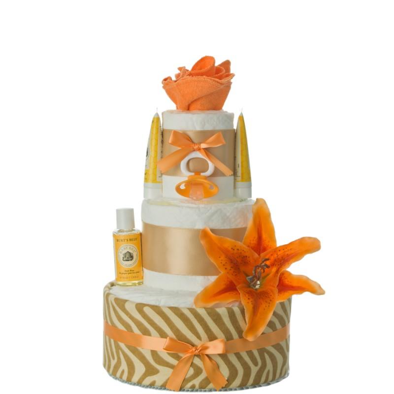 Island Flower Diaper Cake