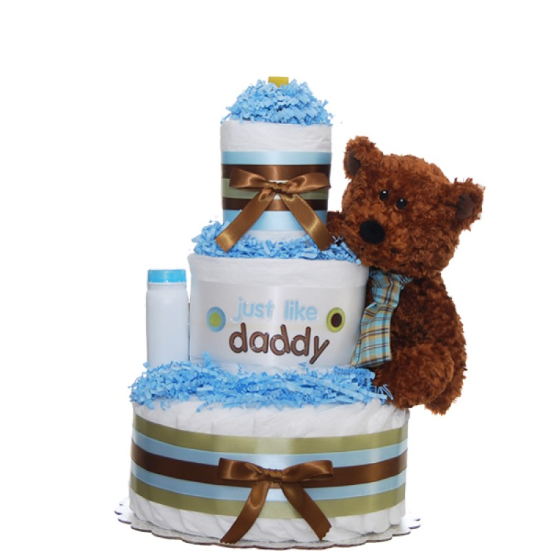 Just Like Daddy Diaper Cake