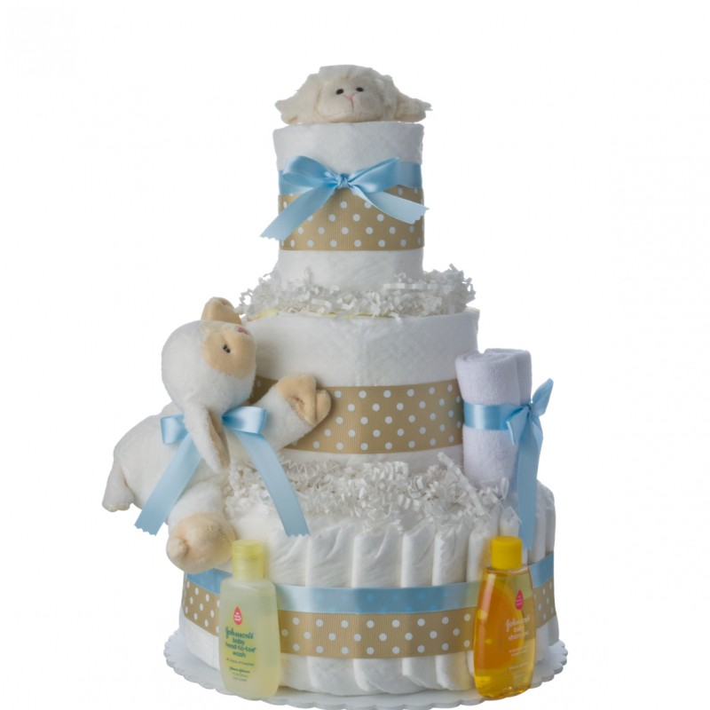 Lil Baby Cakes Lamb Newborn Diaper Cake