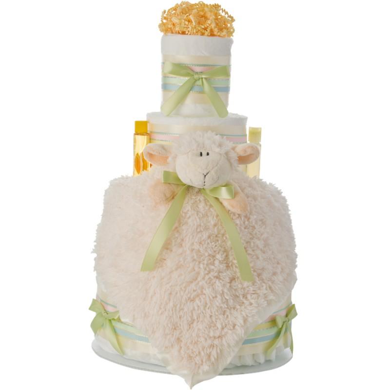 Lil Lamb 4 Tier Diaper Cake