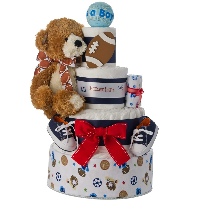 Lil' Athlete 4 Tier Diaper Cake