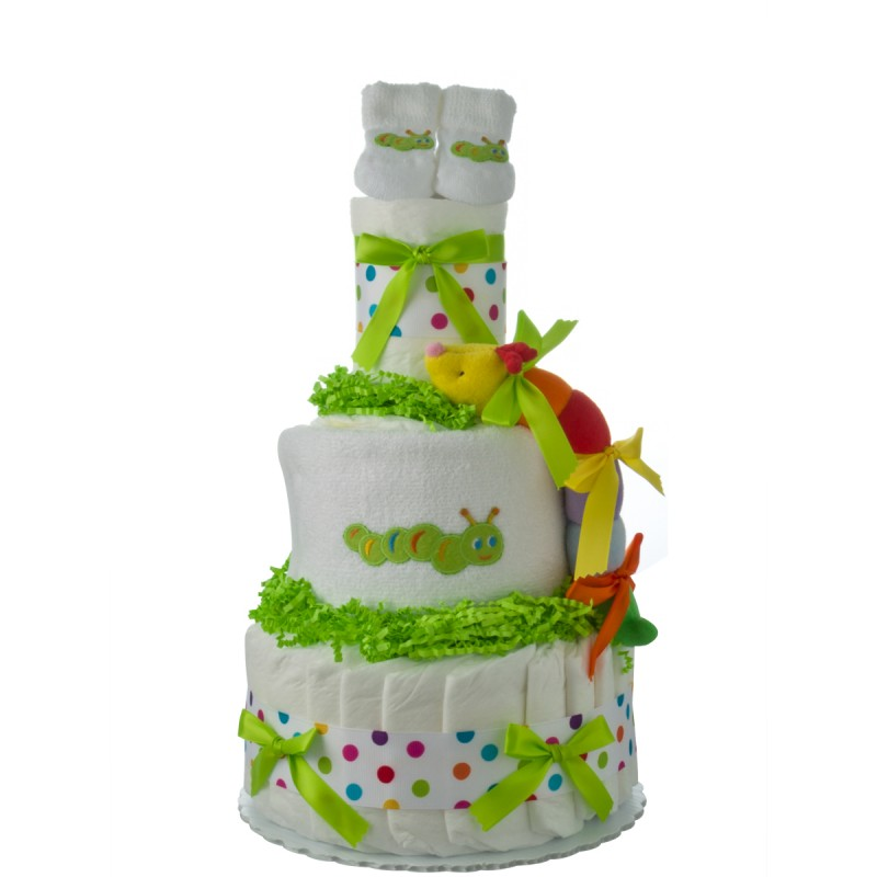 Lil Caterpillar 3 Tier Diaper Cake