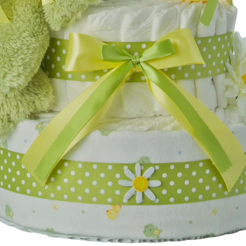 Fuzzy Frog Lower Diaper Cake