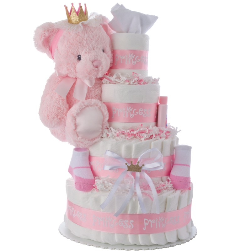 Lil' Princess Baby Diaper Cake by Lil' Baby Cakes